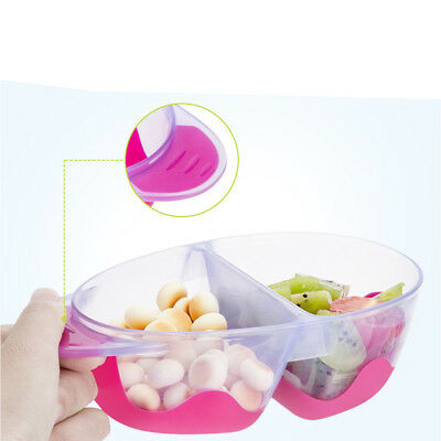 Anti Slip Baby Food Plate Lid Bowl Spoon Set Toddlers Kids Feeding Tray Non-odor