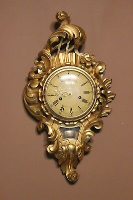 Junghans   Gild wood carved wall clock  at 1949