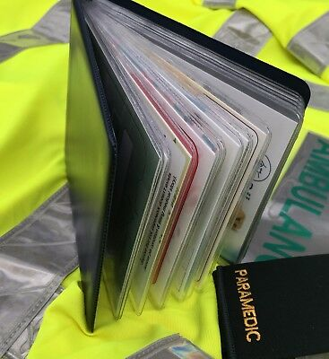 Paramedic Blue Edition: A6 Hardback Wallet with 14 Prompt cards Ambulance Medic