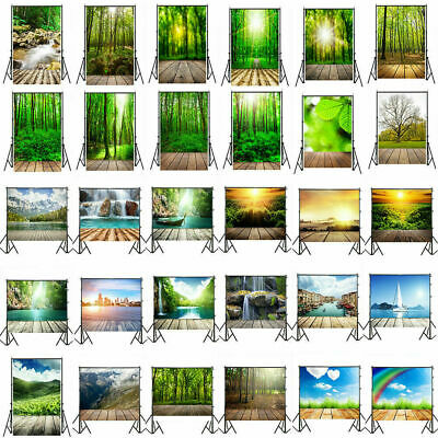 3D Natural Scene Plank Studio Wall Floor Photography Backdrop Background 3/5/7ft