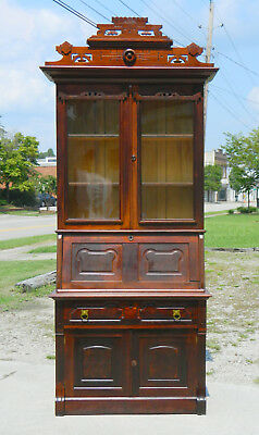 Drop Front Secertary Desk Bookcase~~Victorian Walnut