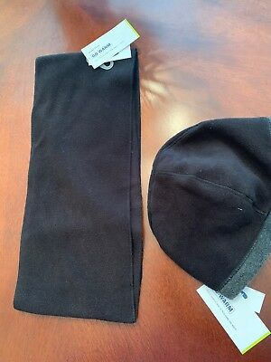 Old Navy Active Go Warm Fleece Scarf And Beanie Hat Tobaggon Black Men Or  Women 68697d41bbe4