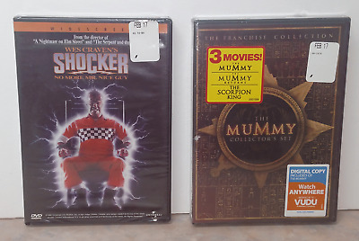 The Mummy Collectors Set + Shocker DVD, NEW SEALED ~ Free Shipping