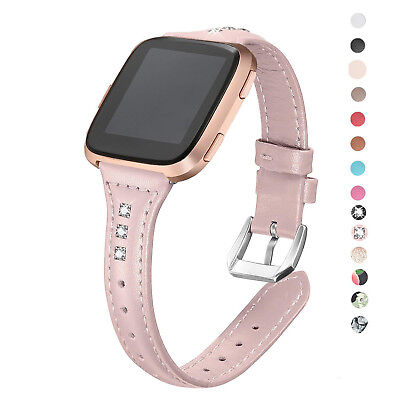 048c909de Bling Glitter Leather For Fitbit Versa Wrist Strap Replacement Belt Watch  Bands