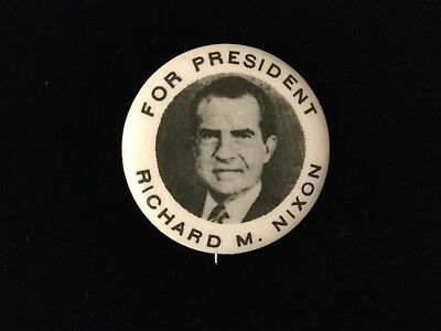 For President Richard N. Nixon 1 1/4 Inch Button. Box 2
