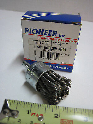 "1 1/8"" Metal Wire Hollow Knot End Brush Grinder Drill Pioneer TNH-12 22,000 RPM"
