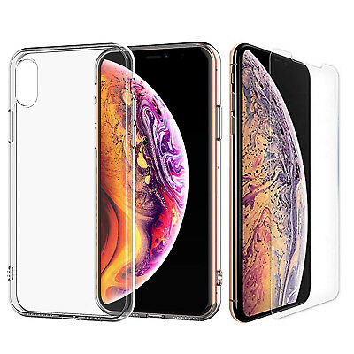 Für Apple IPHONE XS Max Slim Silikon Soft Clear TPU Stoßfest Hülle
