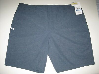 $74.99 Under Armour Ua Golf Fitted Shorts 1264399 467 Gray Women's Size Xl Nwt
