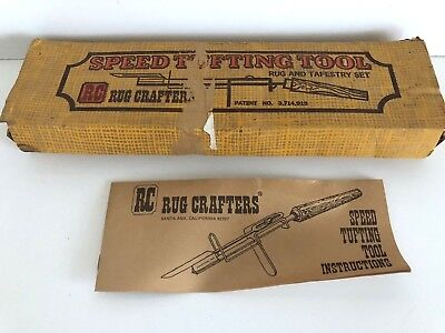 Vintage RC Rug Crafters Speed Tufting Tool Set In Box
