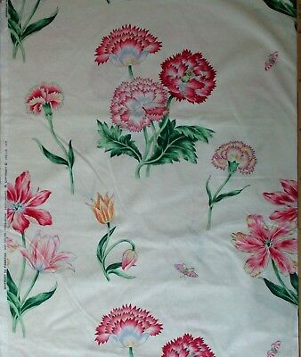 Givenchy  Fabriyaz Cotton Fabric Exotic Floral on Cream HomeDecor  BTY