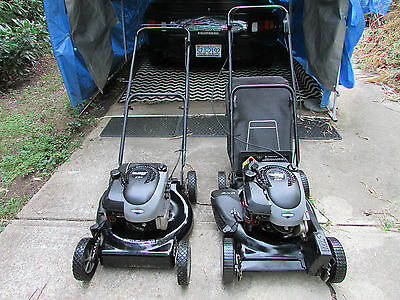 "2 MURRAY MOWERS 20"" SELF PROPELLED MULCH BRIGGS&STRATTON 6&5.5HP Bag Manuals Com"