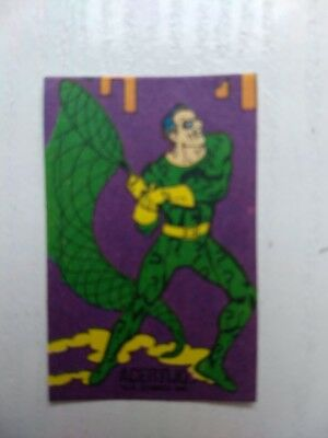The Riddler Edward Nigma Pegatina Rara ARGENTINA chewing gum DC COMICS 80s