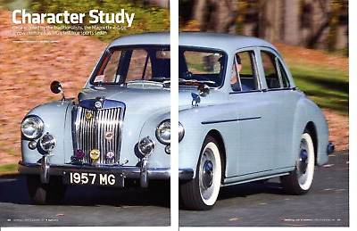 1957 Mg Magnette Zb ~ Great 6-Page Article / Ad