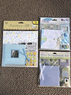 Mini Scrapbook Kits - baby boy