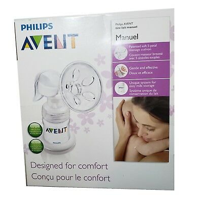 *NIP- AVENT by Philips - MANUAL BREAST PUMP - CONTAIN: 3 PIECES