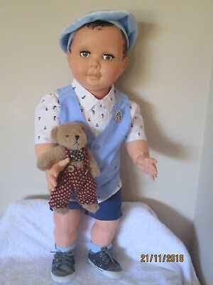 Rare Huge 28 Inch French Convert Boy 1950's