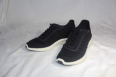 Steve Madden Rolf Mens BLACK Suede Athletic Lace Up Training Shoes SIZE 8.5 398f7cb3e