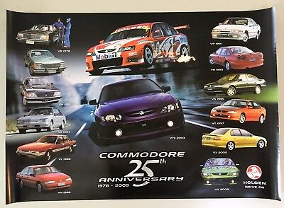 Holden 25th Anniversary Commodore Large Dealer Poster
