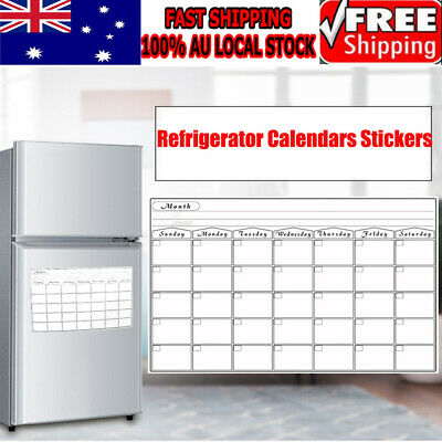 30 Days / A3 Magnetic Monthly Fridge Calendar Stickers Whiteboard Family Memo