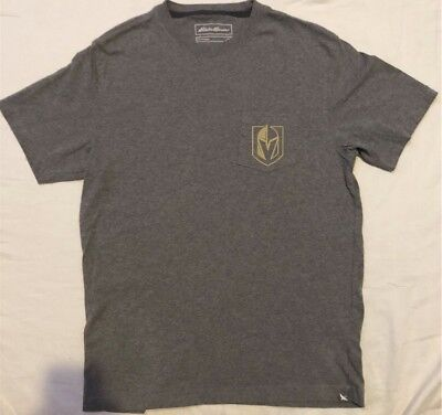 Las Vegas Golden Knights Shirt Size Small Gray Jersey Pocket Great Condition