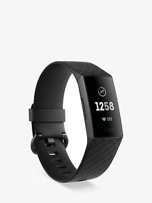 New Fitbit Charge 3 Black Graphite Aluminum Au Stock