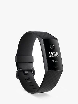 New Fitbit Charge 3 Black Aluminum Au Stock