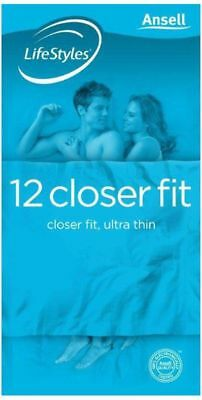 Ansell LifeStyles Closer Fit 12 pack  -  (CON-057)