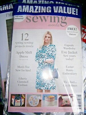 Sewing World Magazine March 2018 (new) With Free Patterns