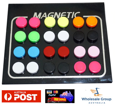 No Piercing Flat Round Coloured Magnetic Fake Ear Stud Earrings Clip Mens Womens