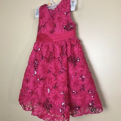 7d848c8c8 Rare Editions Girls Size 4 Toddler Red Party Formal Floral Holiday Dress