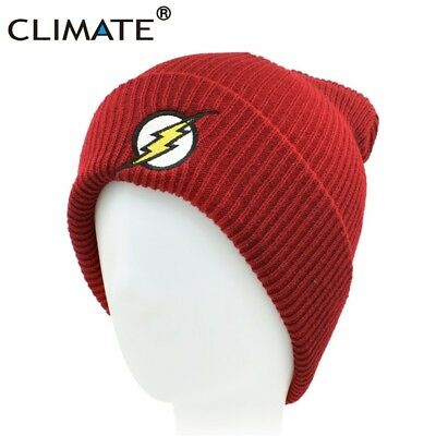 CLIMATE Warm Beanies Winter Flash Red Cap Hat Skullies Beanies ski cap in  red 12a8a49a90c8