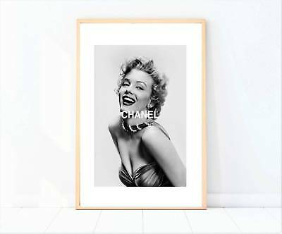 Marilyn Monroe black and white miss coco print poster