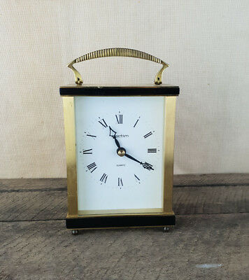 Acctim Vintage Brass Carriage Clock, Made In Germany.