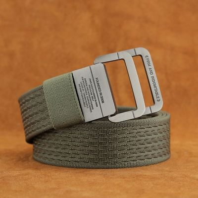 Tactical Belt Alloy Buckle Military Equipment Double Ring Thicken Canvas For Men