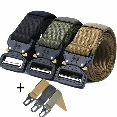 Tactical Belt 125-145CM Military Nylon Automatic Metal-Buckle Men's Army Style
