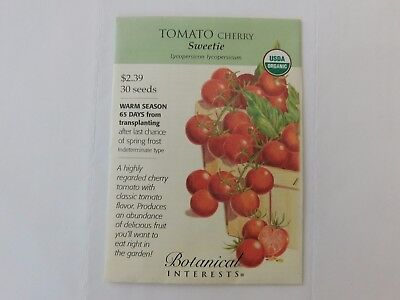 Cherry Tomato Vegetable Seeds - Sweetie, USDA Organic