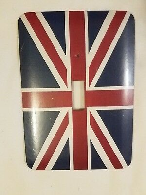 "British Union Jack Flag Switch Plate Cover, 5"" x 3-1/2"""