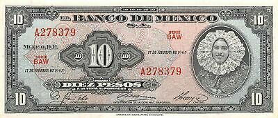 Coins & Paper Money México 5 Pesos 8.11.1961 Series Md Prefix T Circulated Banknote M1 North & Central America