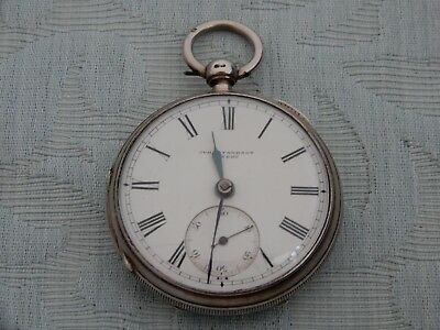 Silver 1889 John Forrest, London, fusee pocket watch, exactly as found in estate