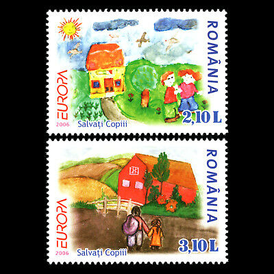 """Romania 2006 - EUROPA Stamps """"I. through the Eyes of Young People"""" - Sc 4818 MNH"""