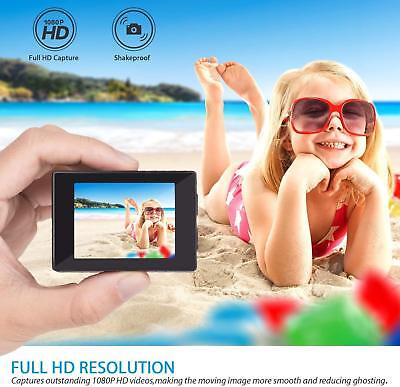 Action Camera, 12Mp 1080P 2 Inch LCD Screen, Waterproof Sports Cam