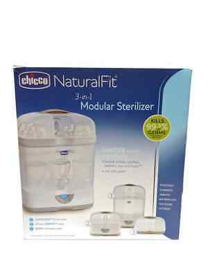 NEW Chicco Natural Fit 3-In-1 Modular Sterilizer Kills 99.9% Of Germs & Bacteria