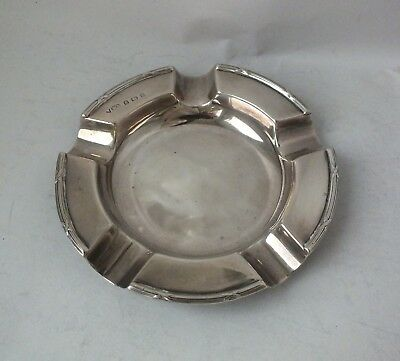 Antique Solid Sterling Silver Ash Tray 1905/ Dia 10.5 cm/ 65 g