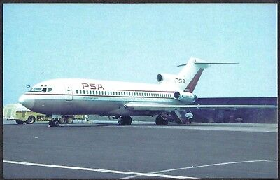 Pacific Southwest Airlines Boeing 727 Postcard 54