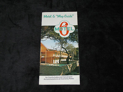 1972 MOTEL 6 Map Guide   Travel Brochure