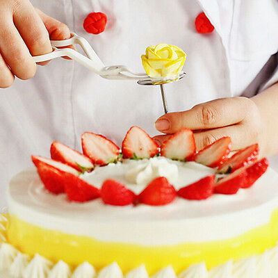 Useful Stainless DIY Cake Cup Ice Cream Decorating Nail Tool Cake Flower Needle