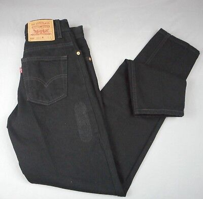 VTG  Levis 550 Relaxed Fit,Tapered Black Mom Jeans Sz. 7 Long (28/34) Junior,USA