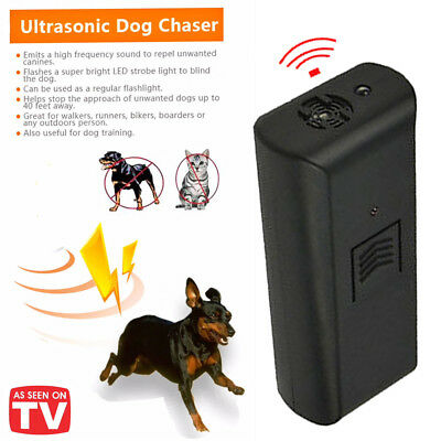 Dog Cat Repeller Chaser Stop Barking Aggressive Trainer Portable Ultrasonic