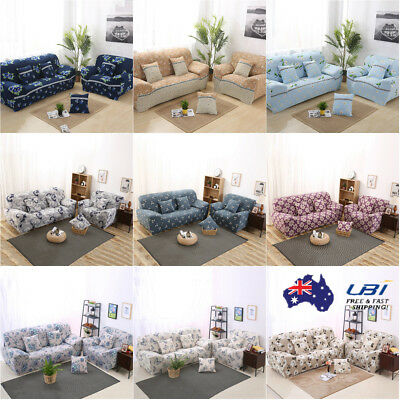 Elastic 1 2 3 Seater Sofa Cover Print Decor Stretch Protector Couch Slipcover