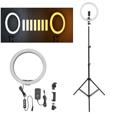 "14"" Ring Light Kit LED Dimmable with Stand Universal Plug Adapter Youtube Live"